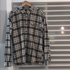 Patagonia flannel button down,  lt grey, s L